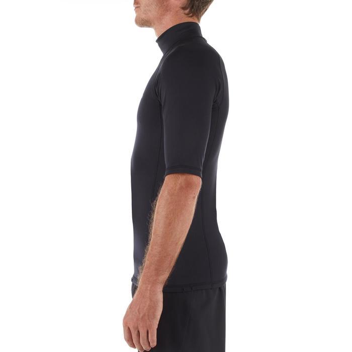 Camiseta Surf 900 Hombre Negro Térmica Polar Manga Corta