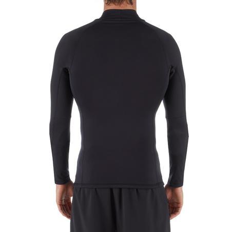 Men's surfing long-sleeve thermal fleece top T-shirt 900 - Black