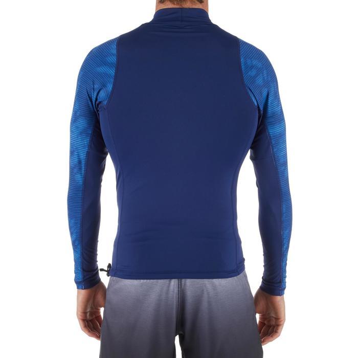 tee shirt anti uv surf top 500 manches longues homme bleu cosmos
