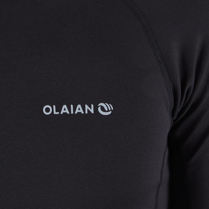 Top Camiseta Protección Solar Térmico Playa Surf Olaian 900 Hombre Negro ANTI-UV