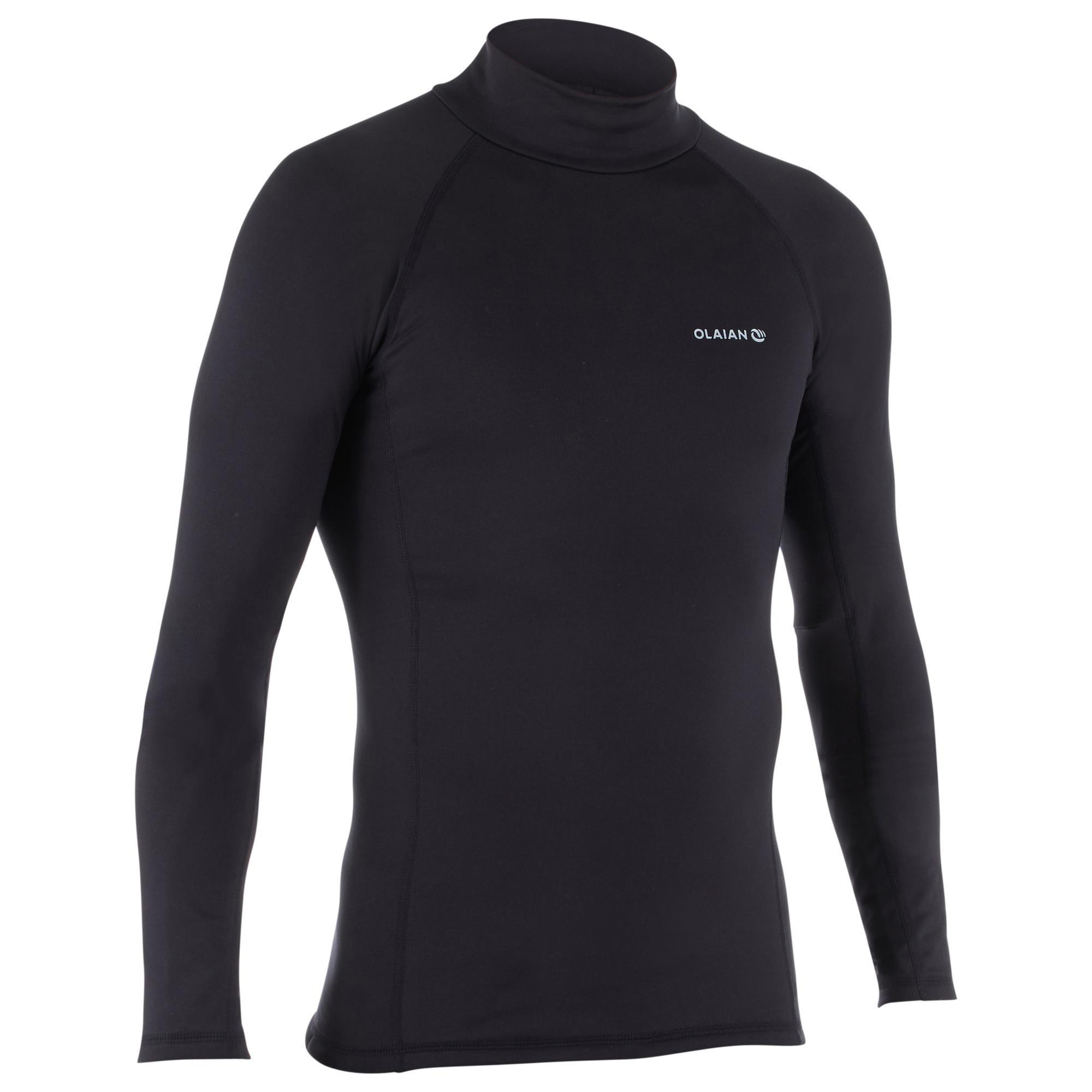 Thermo-Shirt langarm UV-Schutz Top 900 Fleece Herren schwarz | Sportbekleidung > Funktionswäsche > Thermounterwäsche | Olaian