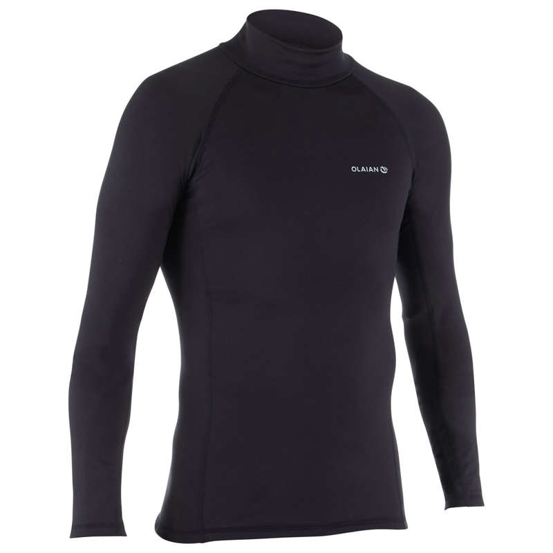 COLD WATER THERMAL ACCESSORIES Surf - UVTHERL M Top - Black OLAIAN - Surf Clothing