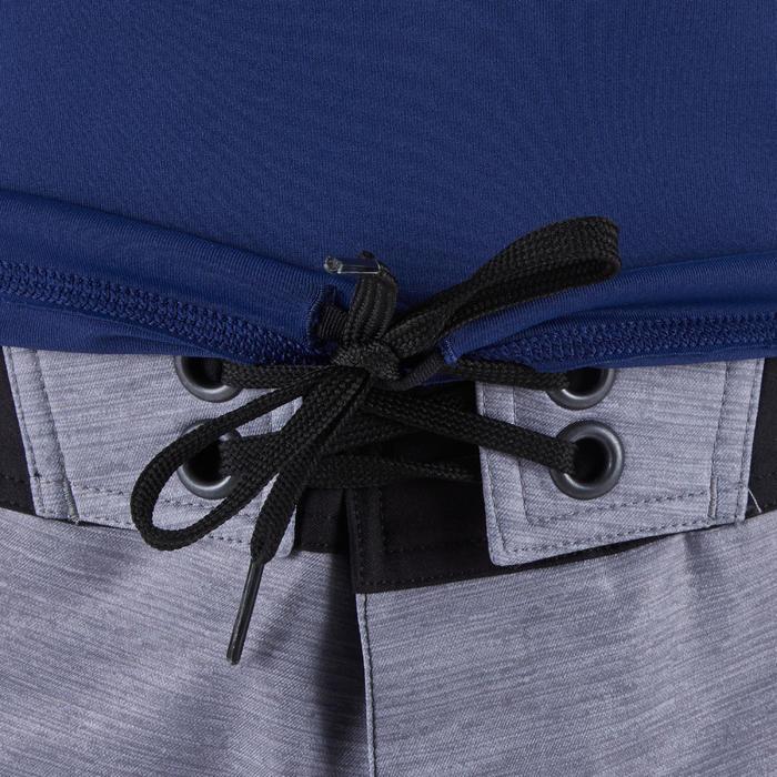 tee shirt anti uv surf top 500 manches courtes homme bleu cosmos