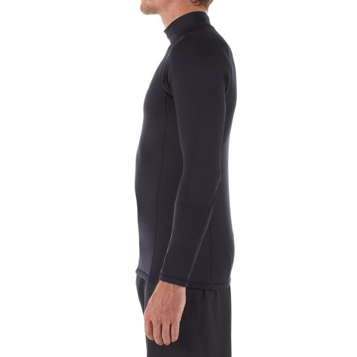 Top Camiseta Protección Solar Térmico Surf Olaian Top 900 Hombre Negro ANTI-UV