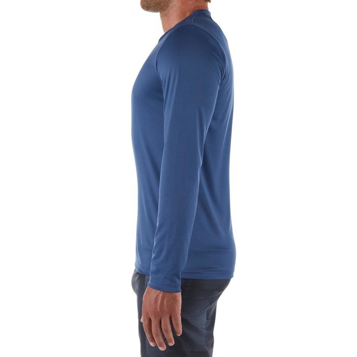 WATER Camiseta anti-UV surf Manga larga Hombre azul pizarra Olaian ... 43ae6d5ebfc