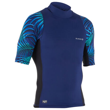 500 Men's Short-Sleeved UV Protection Surfing Top T-Shirt - Cosmos Blue