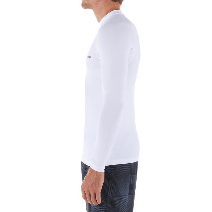 Uv-werende rashguard 100 met lange mouwen voor heren wit