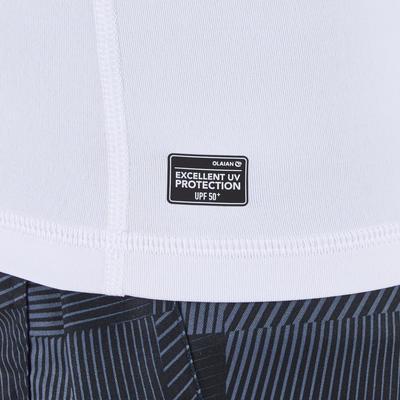 100 Men's Long Sleeve UV Protection Surfing Top T-Shirt - White