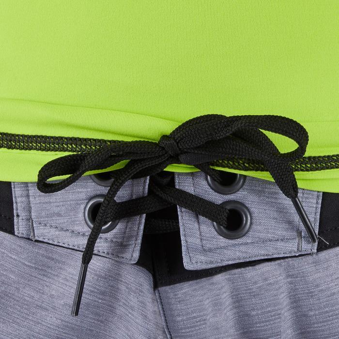 Uv-werende rashguard 500 met korte mouwen voor heren groen