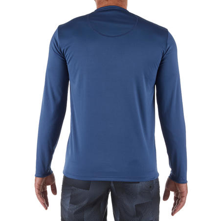 Men's long-sleeved UV-protection water T-shirt slate blue
