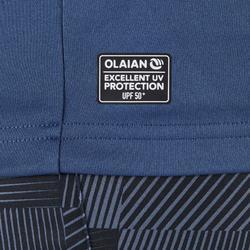 UV-Shirt langarm Surfen Herren blaugrau