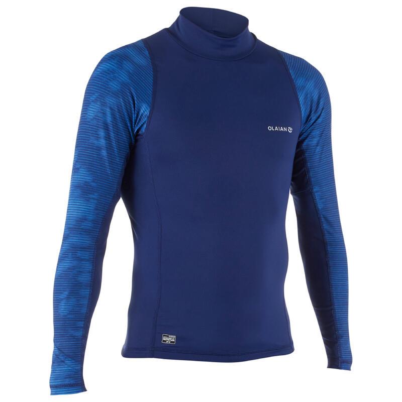 男款抗UV衝浪長袖T恤500-藏青色