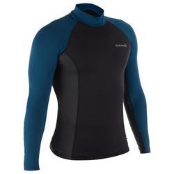 男款氯丁橡膠(neoprene)保暖、抗UV衝浪長袖上衣-灰色