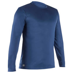 Men's long-sleeved UV-protection water T-shirt slate blue