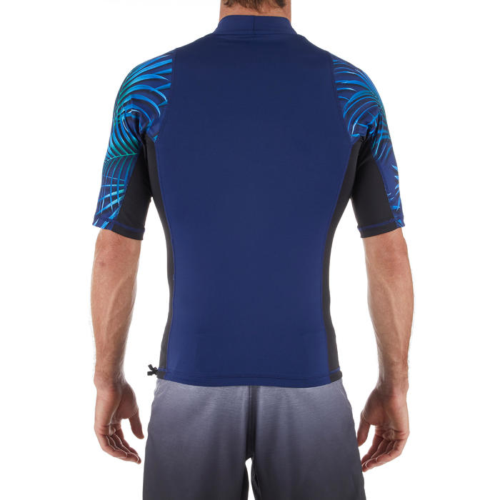 UV-Shirt Surfen Top 500 kurzarm Herren Cosmos blau