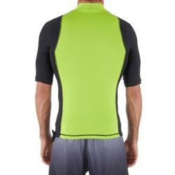 tee shirt anti uv surf top 500 manches courtes homme vert