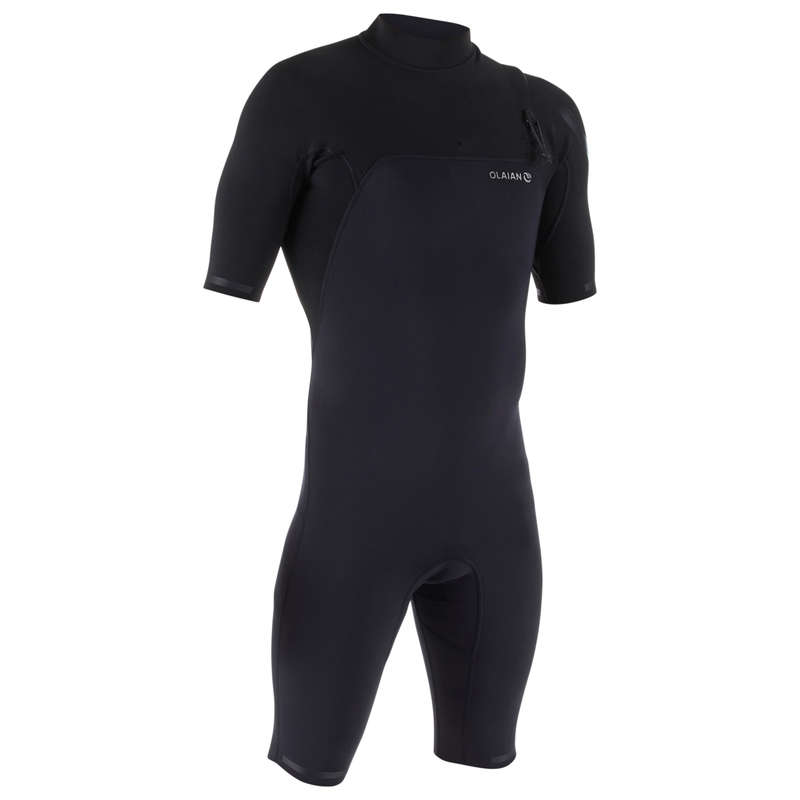 WARM WATER SPRINGSUIT Surf - Surf 900 M Shorty Suit - Black OLAIAN - Wetsuits