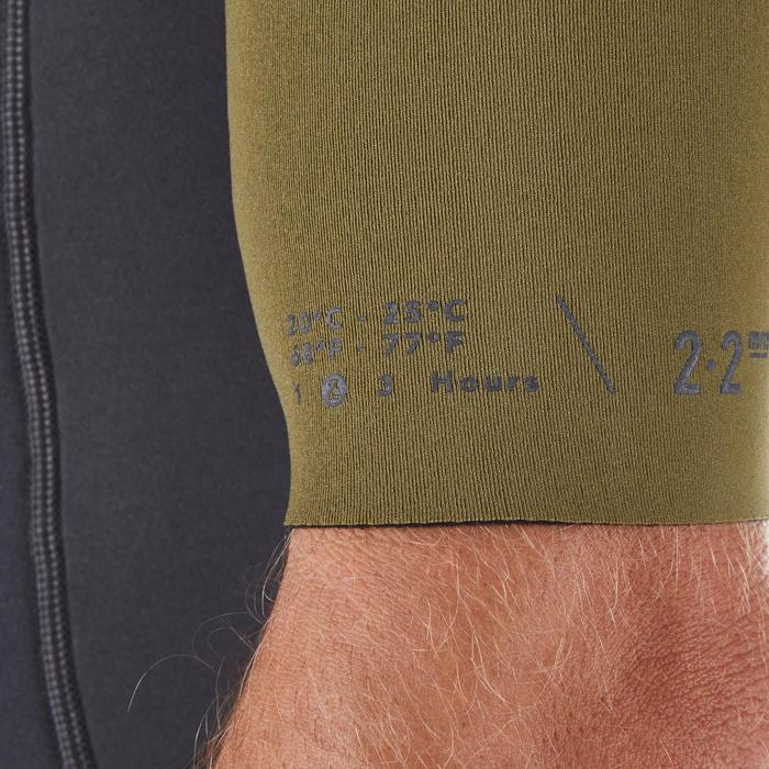 Surfshorty voor heren 500 neopreen 2 mm zwart