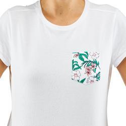 女款郊野健行口袋T恤NH500-白色