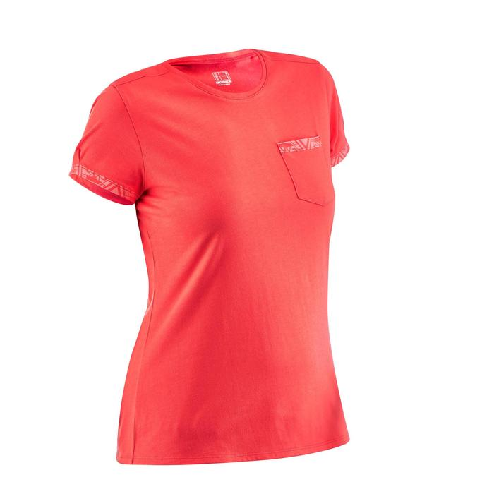 NH500 Women's Pocket Country Walking T-shirt - Red