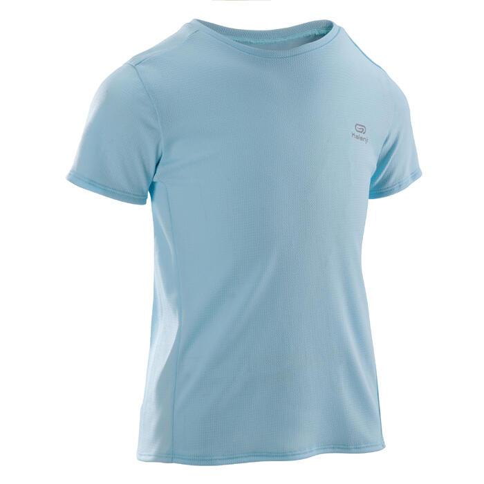 Tee Shirt Athlétisme run dry enfant bleu ciel