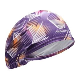 GIRLS' ATHLETICS HEADBAND - PURPLE AND ORANGE