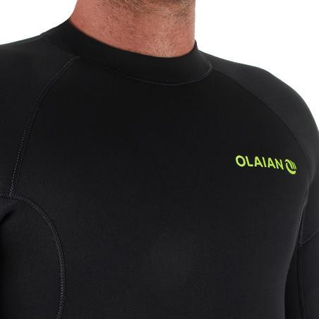 Men's Surfing 4/3 mm Neoprene Wetsuit 100 - Black