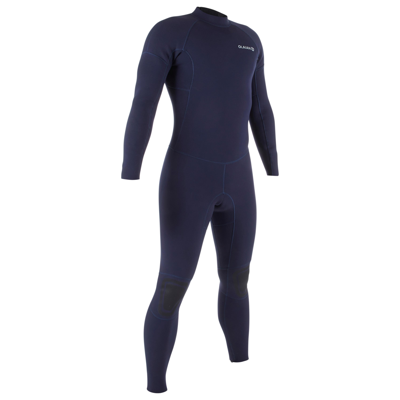 Wetsuit voor surfen heren 100 neopreen 2/2 mm blauw