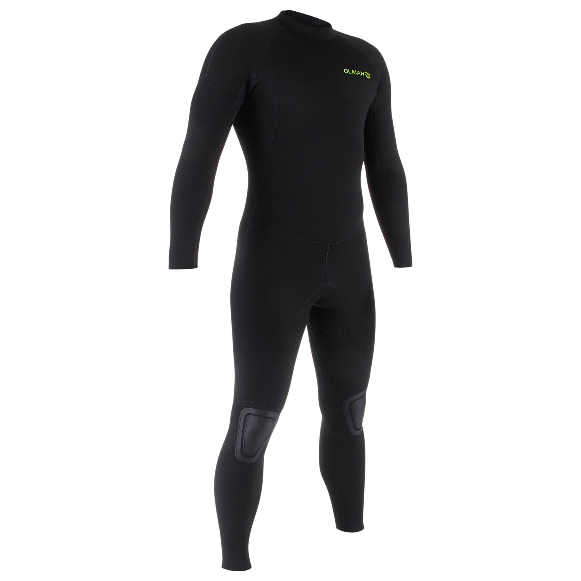 Surfwetsuit voor heren surf 100 neopreen 4/3 mm zwart