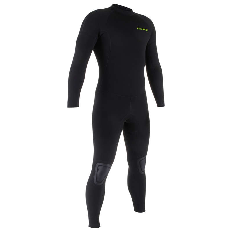 COLD WATER WETSUIT Surf - M Surf 4/3 Wetsuit 100 - Black OLAIAN - Wetsuits