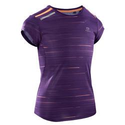 Atletiek T-shirt voor meisjes Run Dry+ paars