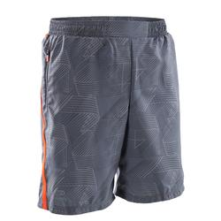 Pantalón Corto Short Running Kalenji Run Dry Baggy Niños Gris/Rojo