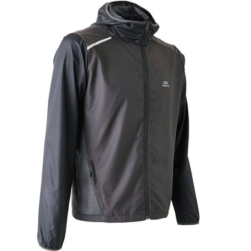 Windschutz Herren Laufen - Laufjacke mit Kapuze Run Wind  KALENJI - Laufbekleidung