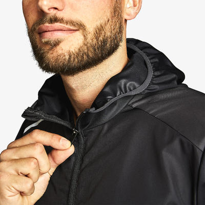 RUN WIND MEN'S RUNNING WINDPROOF JACKET - BLACK