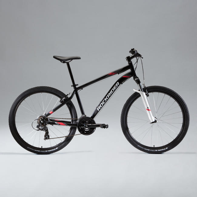 ROCKRIDER ST100 MOUNTAIN BIKE - BLACK