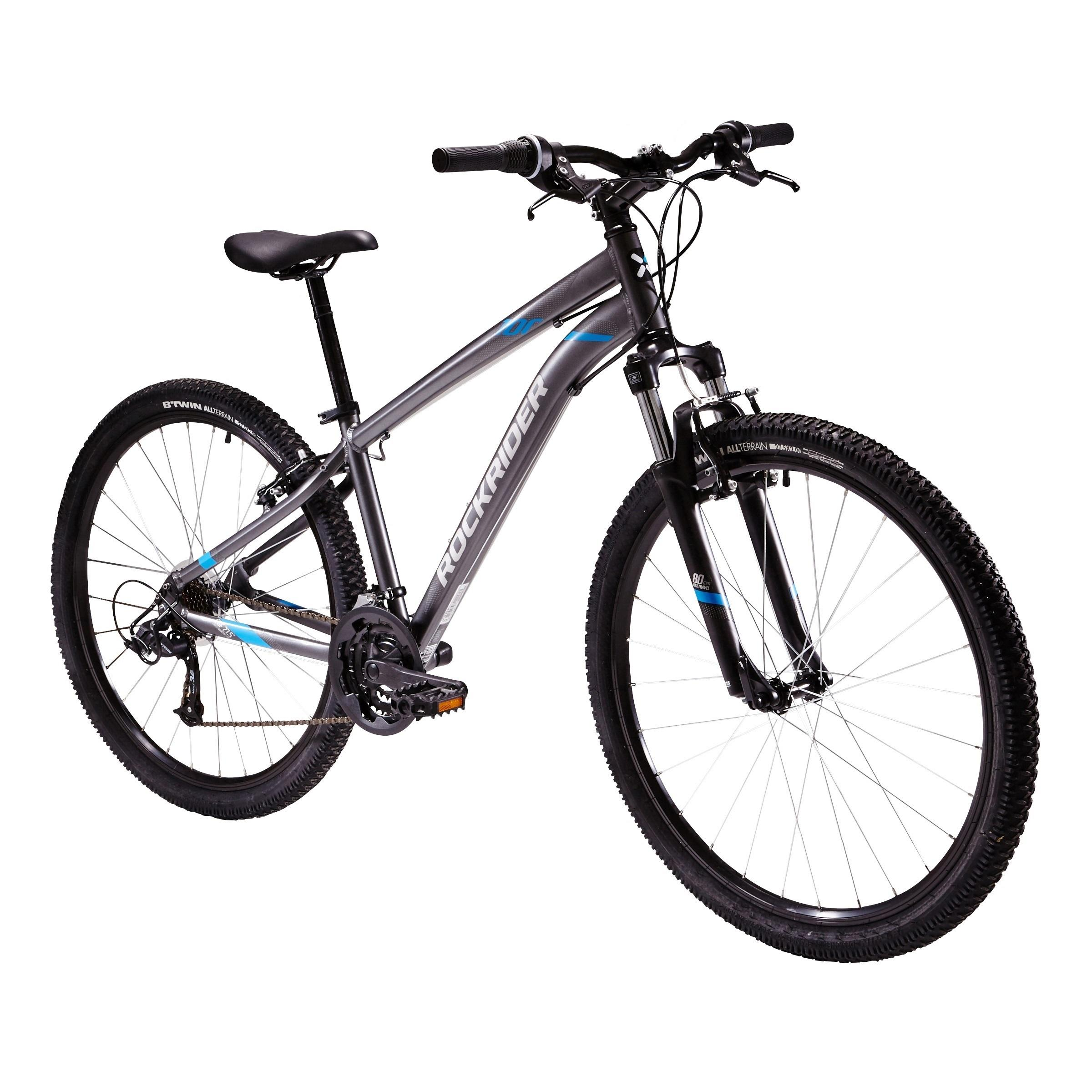 ROCKRIDER ST100 MOUNTAIN BIKE - GREY