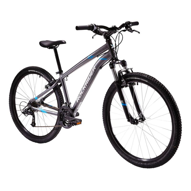 6805d3525 ROCKRIDER ST100 MOUNTAIN BIKE - GREY