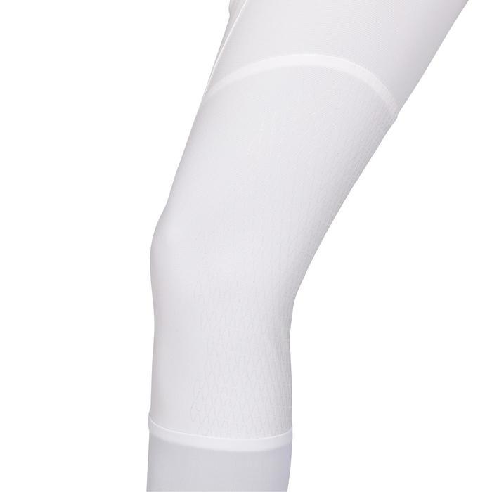 Damespaardrijbroek voor wedstrijden 560 Grip Jump met siliconen kniestukken wit
