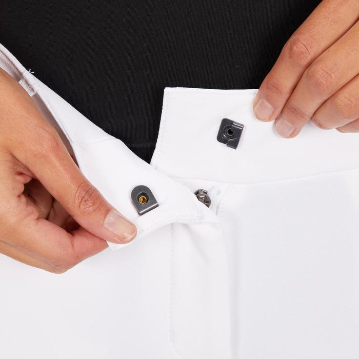 Turnierreithose 560 Silikonbesatz Damen weiß