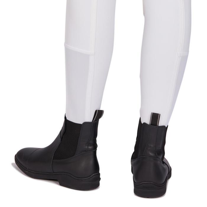 Wedstrijd paardrijbroek dames 500 met knie-inzetten wit