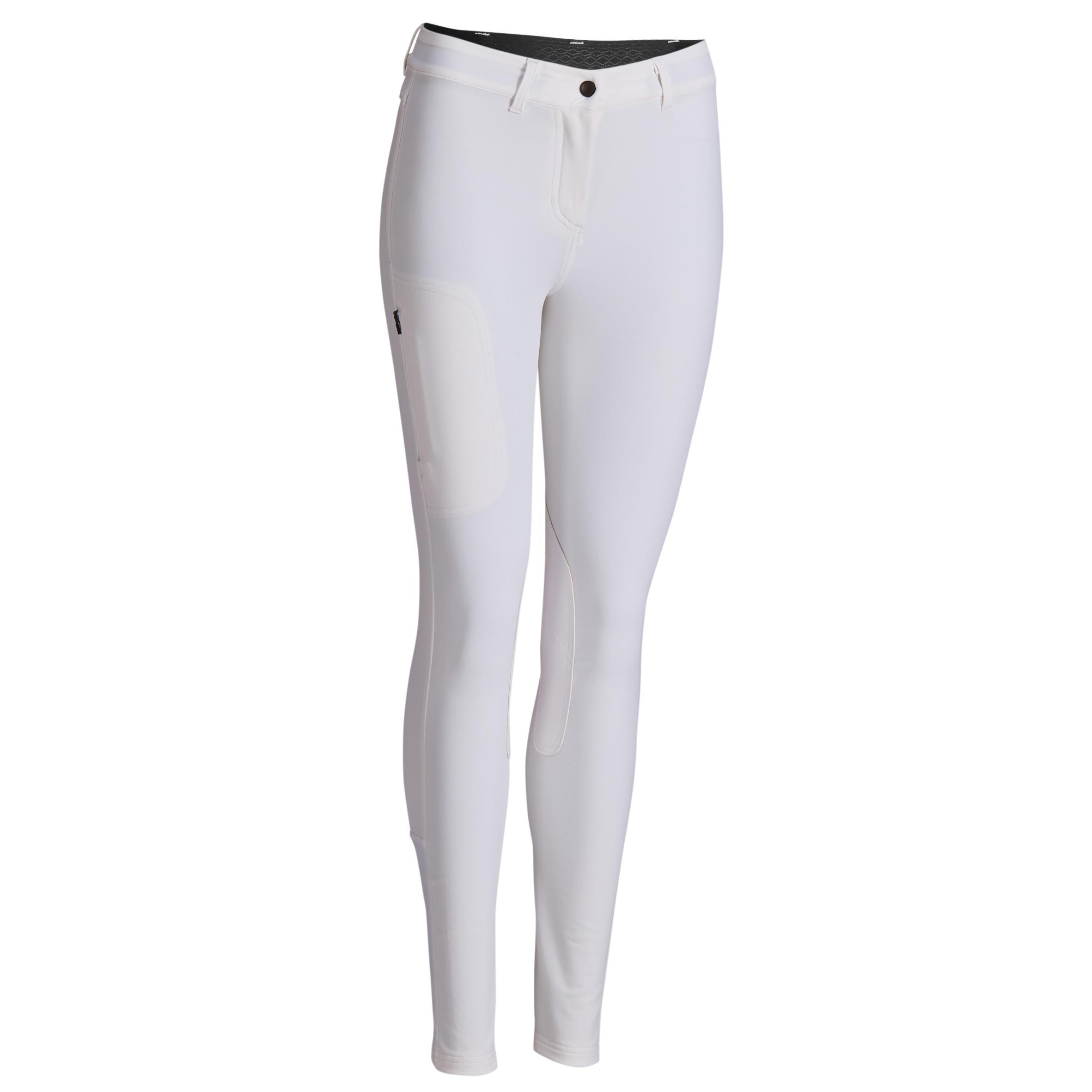Pantalon 500 Alb