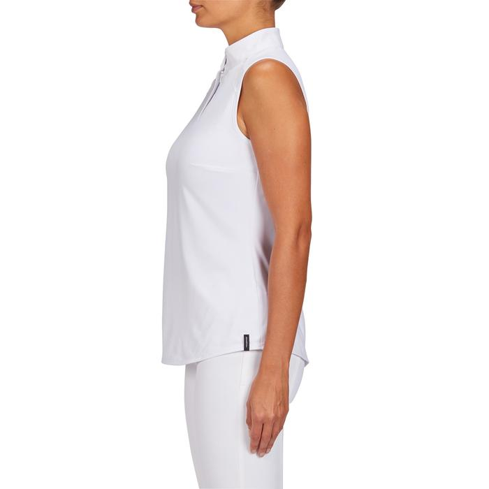Mouwloos wedstrijdshirt 500 voor dames ruitersport wit