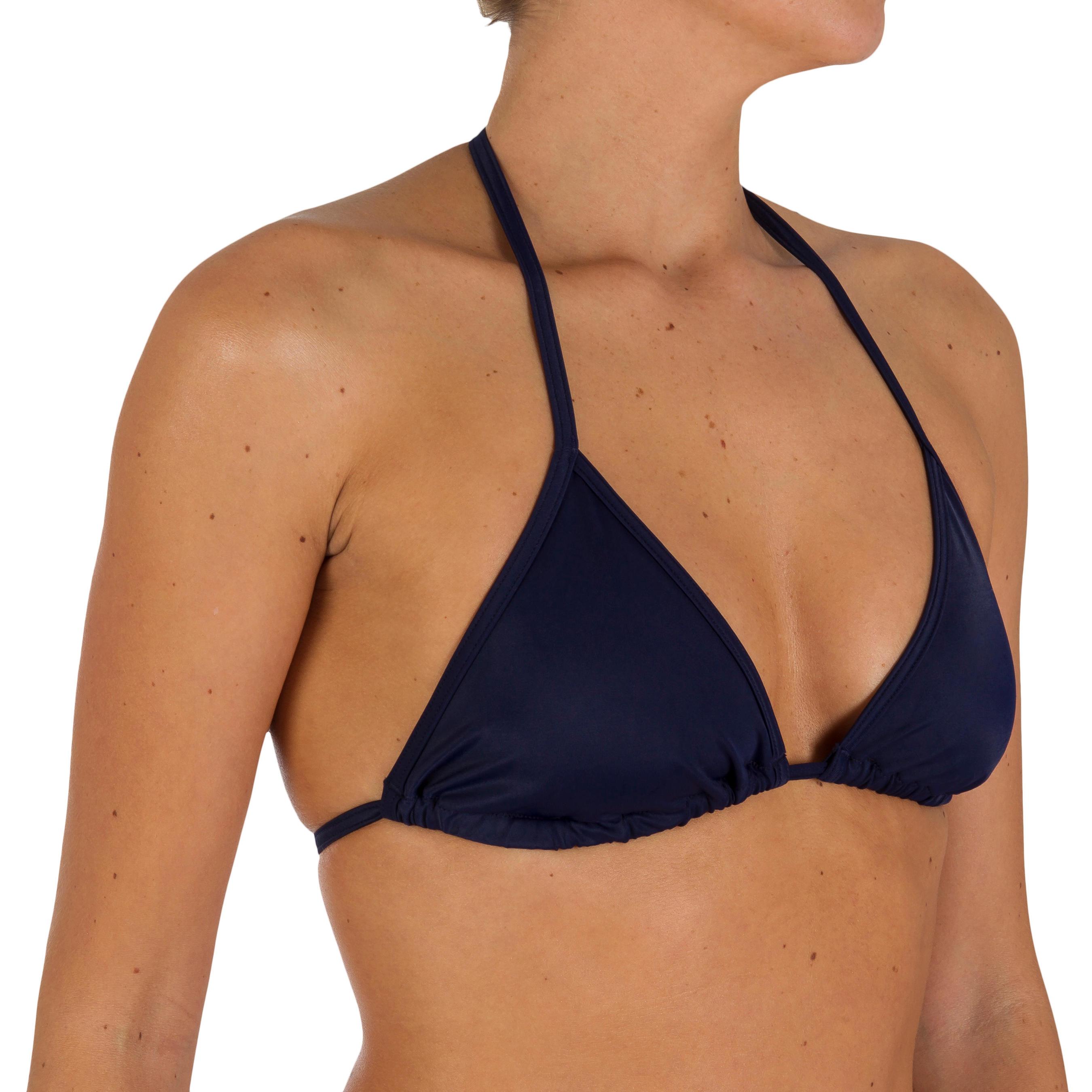 Top triángulos para mujer bikini ajustable MAE azul oscuro