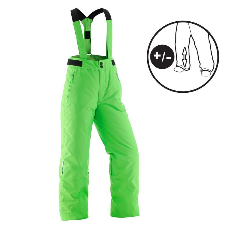 KIDS SKI PANTS PNF 500 - GREEN