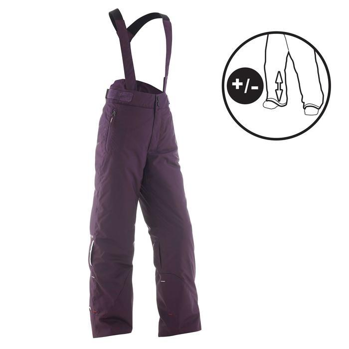 Skihose Piste 500 PNF Kinder violett