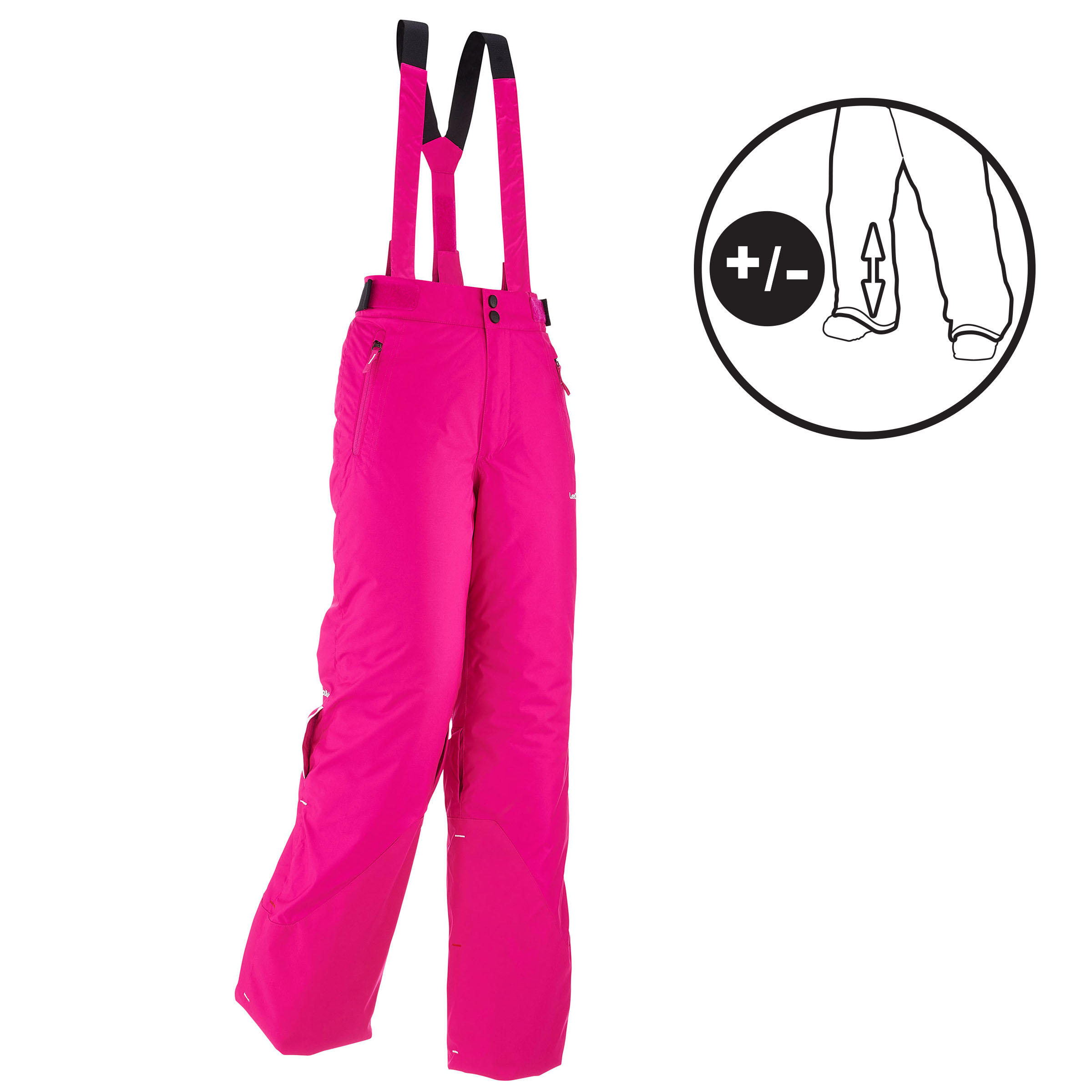 Children's Ski Pants Ski-P 500 Pnf Pink