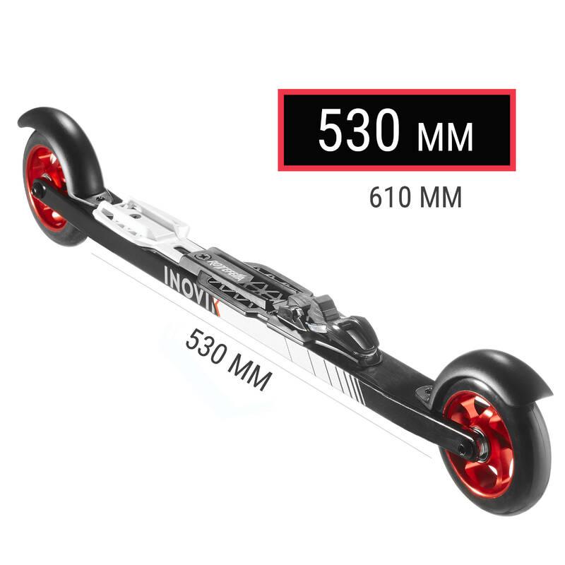 BĚŽECKÉ LYŽE Běžecké lyžování - KOLEČKOVÉ LYŽE SKATE 500 530MM INOVIK - Běžky