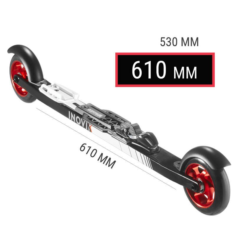 BĚŽECKÉ LYŽE Běžecké lyžování - KOLEČKOVÉ LYŽE SKATE 500 610MM INOVIK - Běžky