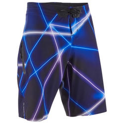 MENS SURFING BOARDSHORTS 900 LONG - PSYCHO NEO BLUE