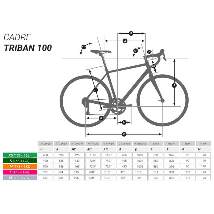 BICICLETA DE CARRETERA TRIBAN RC 120 UK GRIS